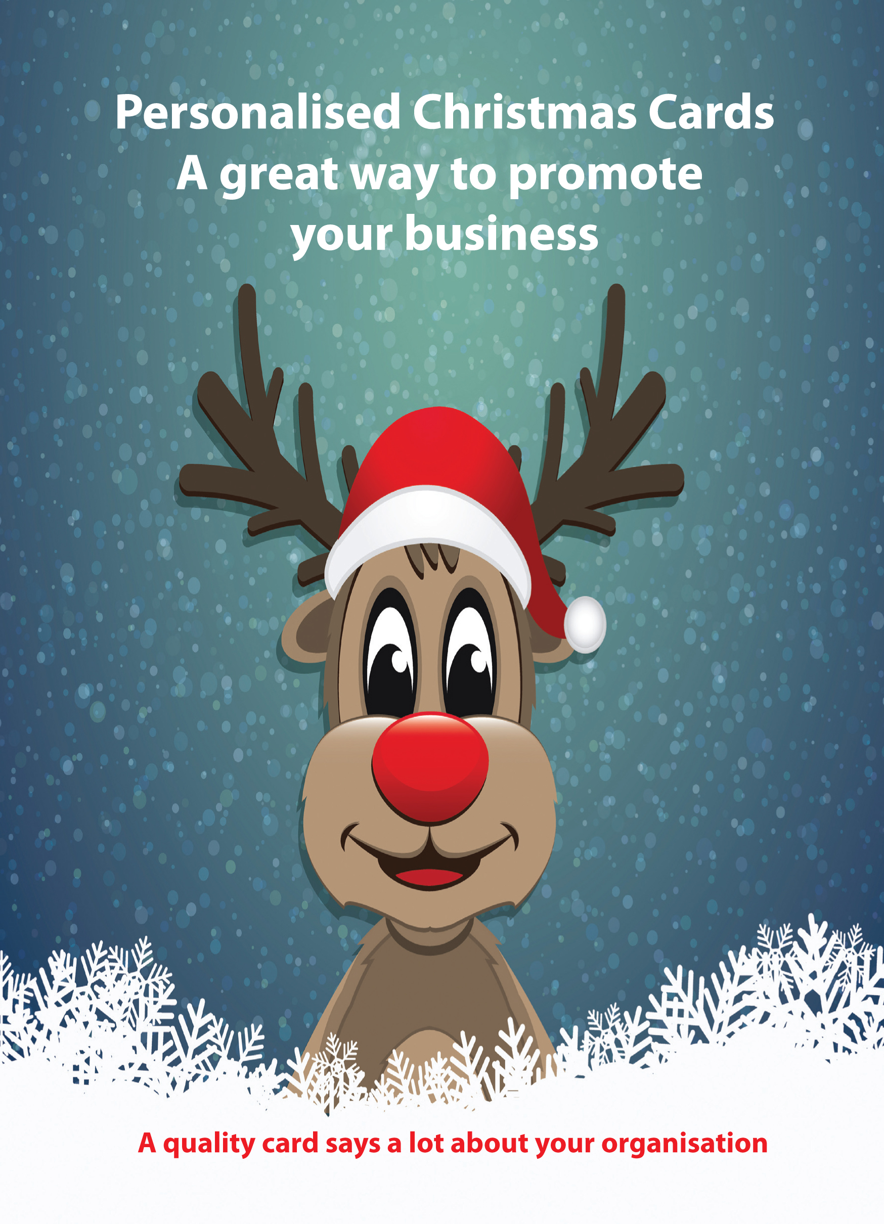 Mcbrinns print solutions quality personalised christmas cards personalised christmas cards a great way to promote your business reheart Images